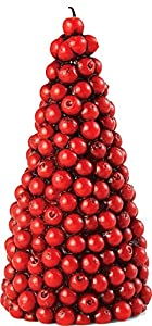 Mud Pie Large Cranberry Tree Candle | christmastablescapedecor.com
