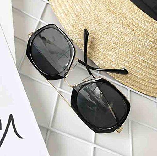 negro De Sol Gafas De De Nueva De Mujeres Las Personalidad La Sol Gafas Poligonales XqwzxOq