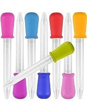 8 Pieza Liquid Dropper, Yidaxing Silicona y Plástico Pipetas Transfer Cuentagotas para Dulces de Caramelo
