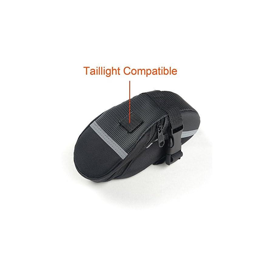 Waterproof Bike Saddle Bag Bike Seat Bag & Frame Bags Phone Mount Holder Cellphone Below 5.5 Inch with Touch Screen, Bicycle Pack Cycling Seat Bag Bike Handlebar Toolkit Bag (Seat Pack)