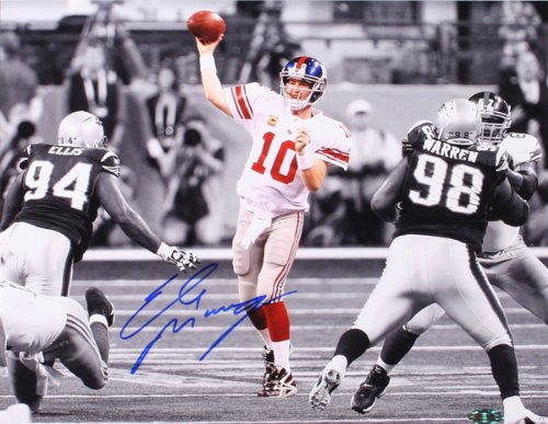 New York Giants Eli Manning Autographed,