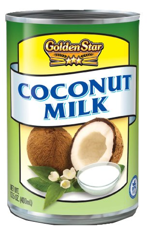 Golden Star Coconut Milk 13.5oz (pack of 12) Great dairy alternative, all natural and GMO free, Kosher certified
