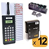 Long Range Systems Pager Digital Staff Paging System Restaurant Server Style (Set of 12)