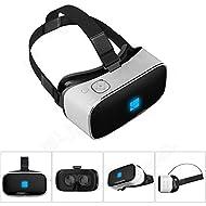 Elikliv Casque de réalité virtuelle Lunettes 3D Casque VR Tout-en-un avec écran HD 5,5 pouces 1920 x 1080 1080P 1G/8G Wifi BT V7