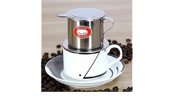 De estilo vietnamita de acero inoxidable de café Recipiente de goteo Cafetera de filtro de Infuser de café Recipiente de goteo: Amazon.es: Hogar