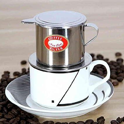De estilo vietnamita de acero inoxidable de café Recipiente de goteo Cafetera de filtro de Infuser