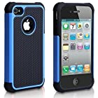 iPhone 4 Case, iPhone 4S Case, Fashion Shockproof Durable Hybrid Dual Layer Armor