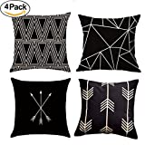 Decorative Pillow Cover - MOCOFO Set of 4 Both Sides Pillow Covers Decorative Couch Throw Pillows Throw Pillow Covers For Bed For Sofa For Car18 x 18 Inches