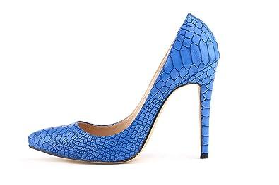 Aisun Damen Spitz Damenschuh Krokodil Muster High Heels Stilettos Pumps
