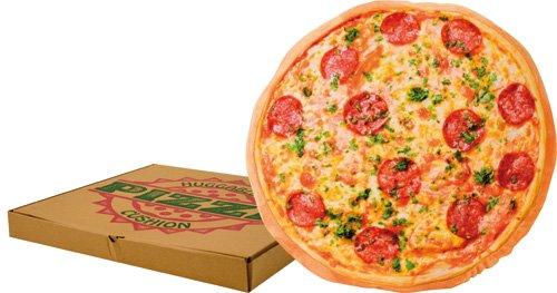 """16"""" Novelty Pizza Cushion In Pizza Box"""