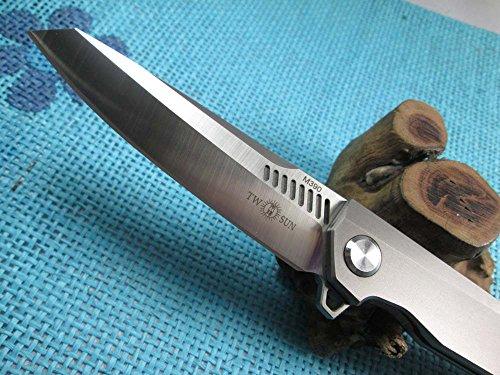 Twosun EDC No Screw Tenon-And-Mortise Work Titanium M390 Folding Knife TS88 by TwoSun (Image #1)