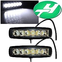 "YINTATECH 2pcs 6"" inch 18W LED Light Bar Spot driving lamp LED Waterproof Work Fog Light"