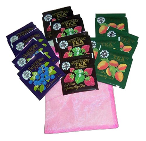 - Mlesna Flavored Black Tea Sampler 4 Each Blueberry, Strawberry, Peach-Apricot