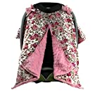 Onyx Arrow Carseat Canopy, Pastel Roses Cotton Print Light Pink Minky Dot, Mix and Match
