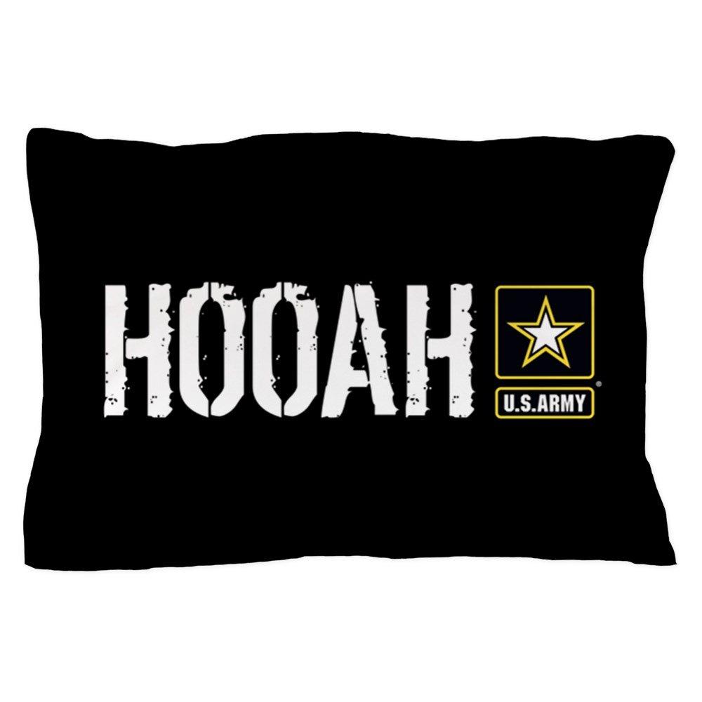 CafePress U.S. Army: Hooah (Black) Standard Size Pillow Case, 20''x30'' Pillow Cover, Unique Pillow Slip