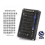64 Bit Driver Kit - Precision Screwdriver set - Electronics Repair Tool Kit - With Magnetic Bit Holder & Flex Extension