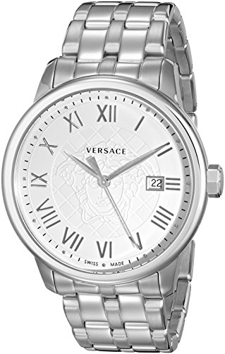 Versace Men's VQS040015 Business Analog Display Quartz Silver Watch