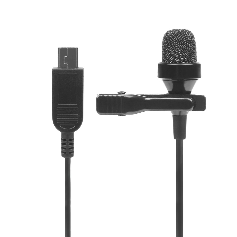 Shanglite 3.5mm Stereo Clip-on Microphone for Gopro hero 4 3+Black Silver 3 Action Camera Mini Audio Condenser for Go Pro Accessory