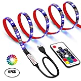 LED Strips 2M LED Backlights TV USB Strip Light with RF Remote Control for TV 40 to 60 Inch HDTV, PC Monitor