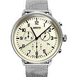 Aristo 4H160M Bauhaus Swiss Quartz Chronograph Watch on Mesh Bracelet