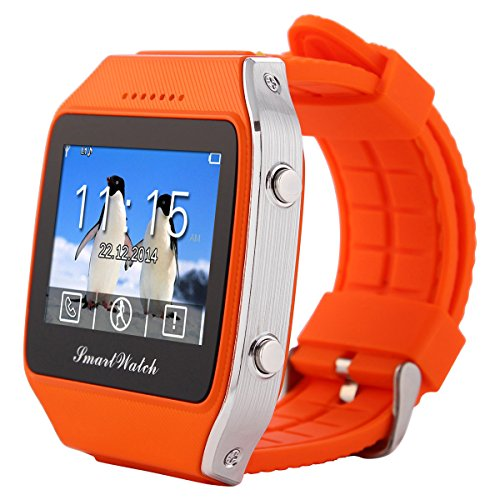 LeFun Neo Bluetooth GPS Smart Watch Wristwatch Phone Mate for Android and IOS Iphone(Partial Functions) Smartphone (orange)
