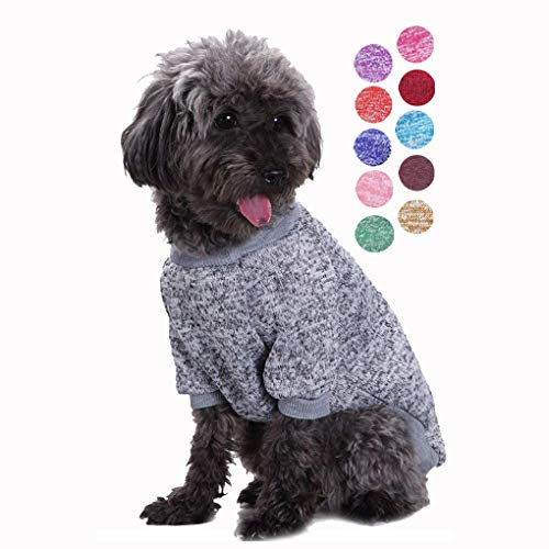 Bwealth Small Dog Clothes, Dog Sweaters for Small Dogs, Cute Classic Warm Pet Sweaters for Dogs Girls Boys, Cat Sweater Dog Sweatshirt Winter Coat Apparel for Small Dog Puppy Kitten Cat