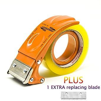 Blanco Prosun Dispensadores de Cinta Adhesiva con Mango Ergon/ómico 48mm//50mm 2 pulgadas Dispensador de Cinta para F/ácil Utilizaci/ón en Trabajos de Empaquetado