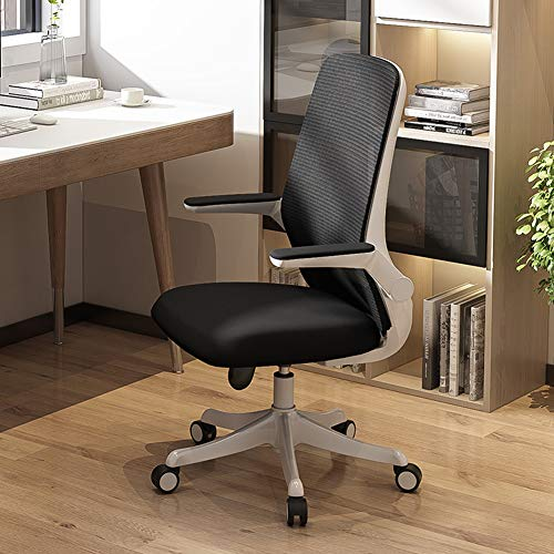 NA Escritorio de Oficina Silla Silla de Juego, Silla ergonomica giratoria de Oficina PC, con la Comodidad Transpirable Soporte Lumbar,Negro