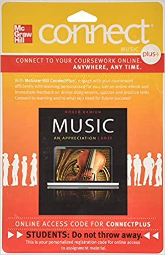 Connect Plus Access Code For Music: An Appreciation Brief 7e ...