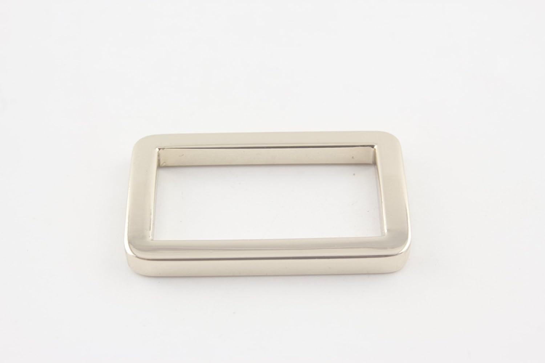 Light Gold Rectangle 2.5cm 1 inch Zinc Alloy Strap Adjuster Sliders Buckle /& Rectangle Ring in Gunmetal Nickel Gold Polished Nickel to Choose,Pack of 10 U130 Light Gold