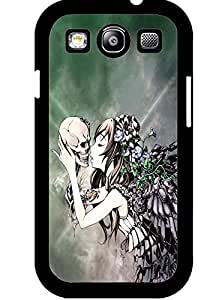 Cover Case for Samsung Galaxy S3 I9300 ,Unique Floral Skull and Beautiful Girl by lolosakes