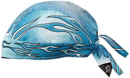 Zanheadgear 100% Cotton Road Hog Flydanna Bandanna, Blue - Flydanna Tie Cotton