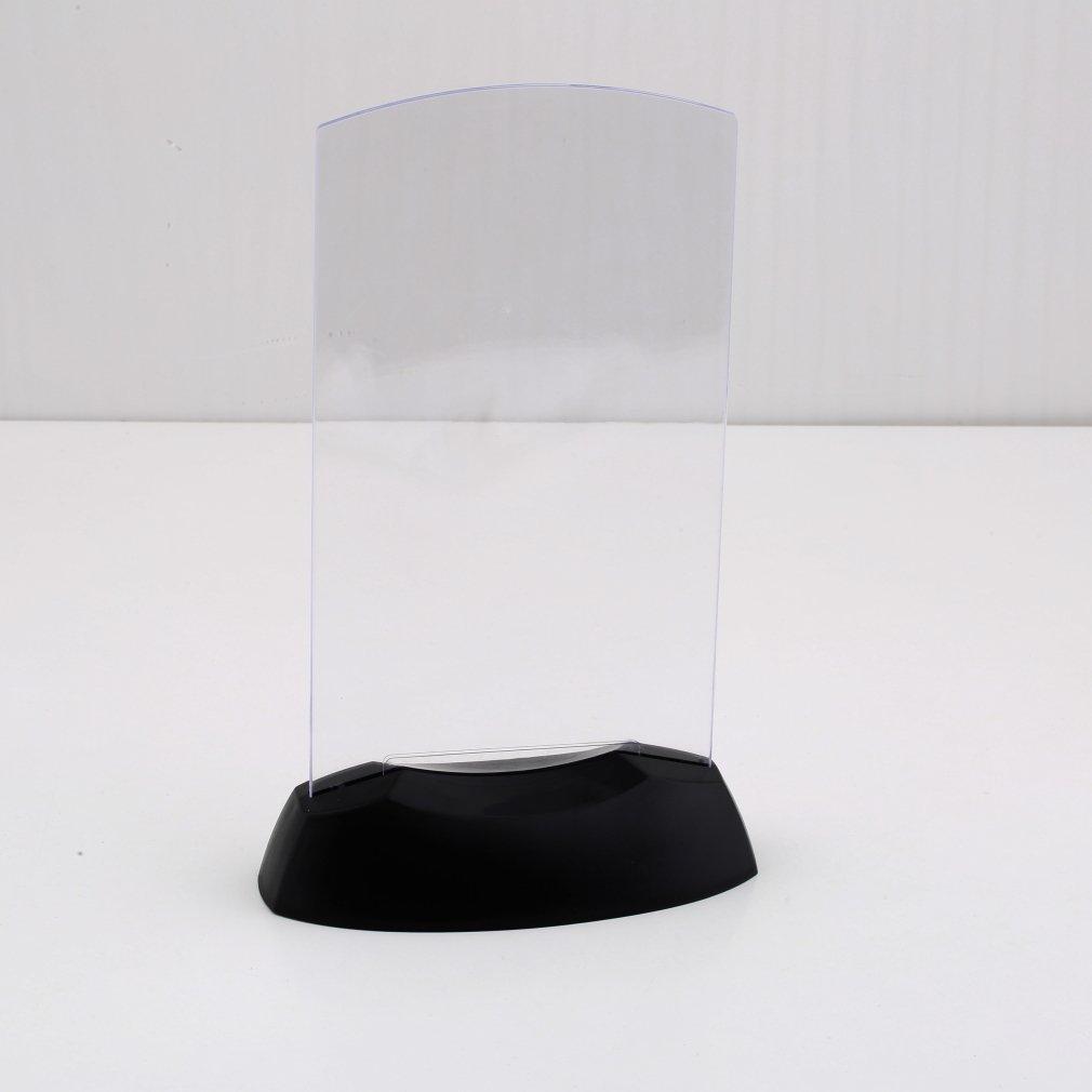Vvciic Dual-Side acrilico Led Light Table Menu Restaurant carta supporto del banco