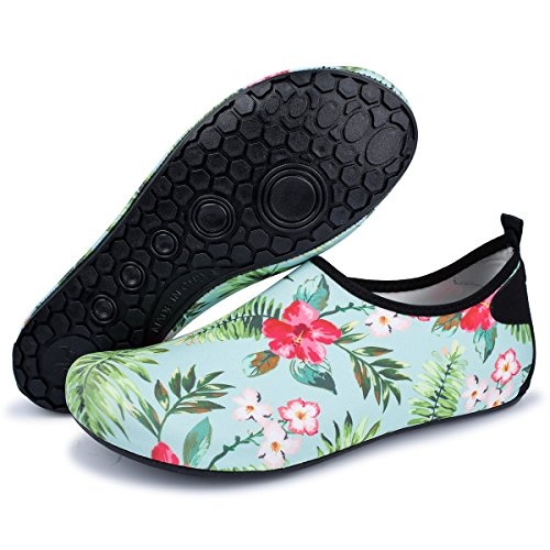 US 7 Shoes Flower Women Aerobics 5 5 6 7 Women 5 for Lightweight Sports 5 Beach Men Pool Water Walking 8 JIASUQI qPwxPB