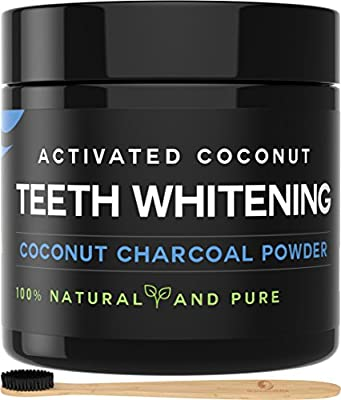 Activated Charcoal Teeth Whitening Powder[BRIGHTENS TEETH] Natural Whitening Teeth, Personal Coconut Charcoal 60g/2.11oz