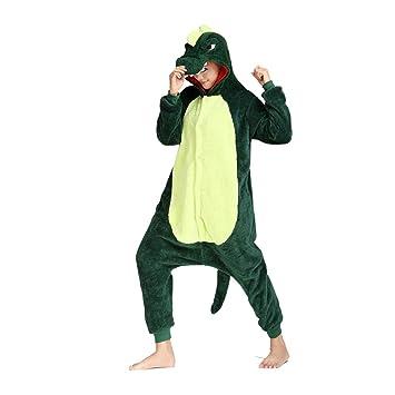 Mingteng Pijamas de Dinosaurio de Dibujos Animados de Halloween Pijamas de Animales de Dibujos Animados Adultos