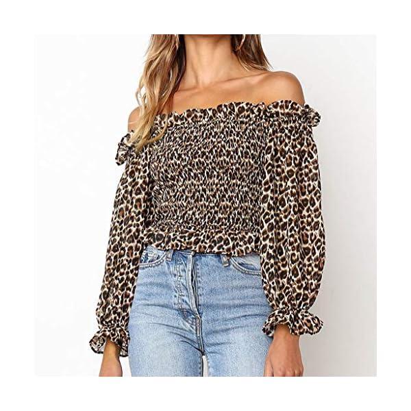 Leopard-Print Off-Shoulder Top