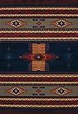 United Weavers of America 940 36064 Manhattan Collection Indoor Rug, 5'3″ x 7'6″, Navy