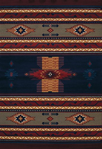 """United Weavers of America 940 36064 Manhattan Collection Indoor Rug, 5'3"""" x 7'6"""", Navy from United Weavers of America"""