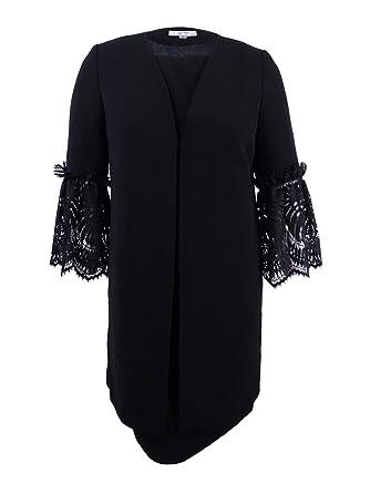 b98985fc3c65 Amazon.com: Tahari ASL Womens Plus Lace Trim 2 Piece Dress Suit Black 18W:  Clothing