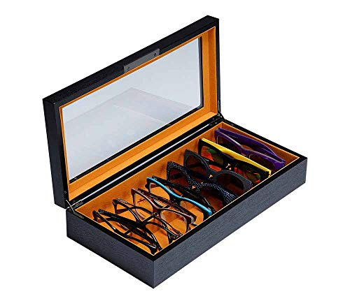 Art Lins Bedford Collection Eyewear Storage Box for Men & Women, Holds 8 Sunglasses Glasses ()