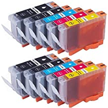 RIGHTINK Compatible ink Cartridges for Canon PGI 220 & CLI 221 (2 Large Black,2 Small Black,2Cyan,2Magenta,2Yellow) 10 Pack