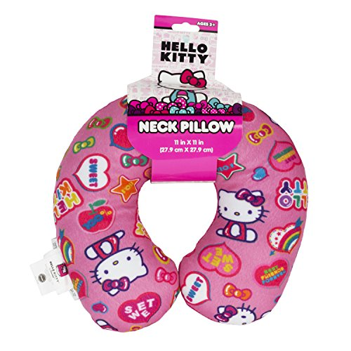 Hello-Kitty-Pink-Rainbow-Travel-Neck-Pillow