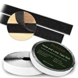 Self Adhesive Hook and Loop Tape Roll 40 Feet x 0.8 Inch Fabric Fastener Mounting Tape by Holotap Adhesive Fastening Strips (Black)