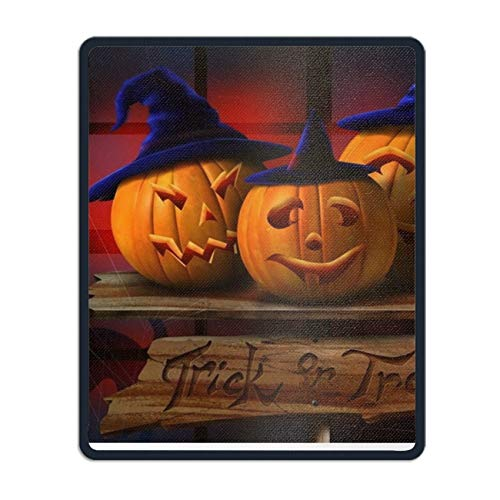Happy Halloween Pumpkin Hats Non-Slip Rubber Mousepad Custom Gaming Mouse Pad Rectangle ()