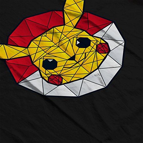Polychu Jacket Stainglass Pikachu white Black Pokemon Men's Polygon Varsity rWwrxBvaq