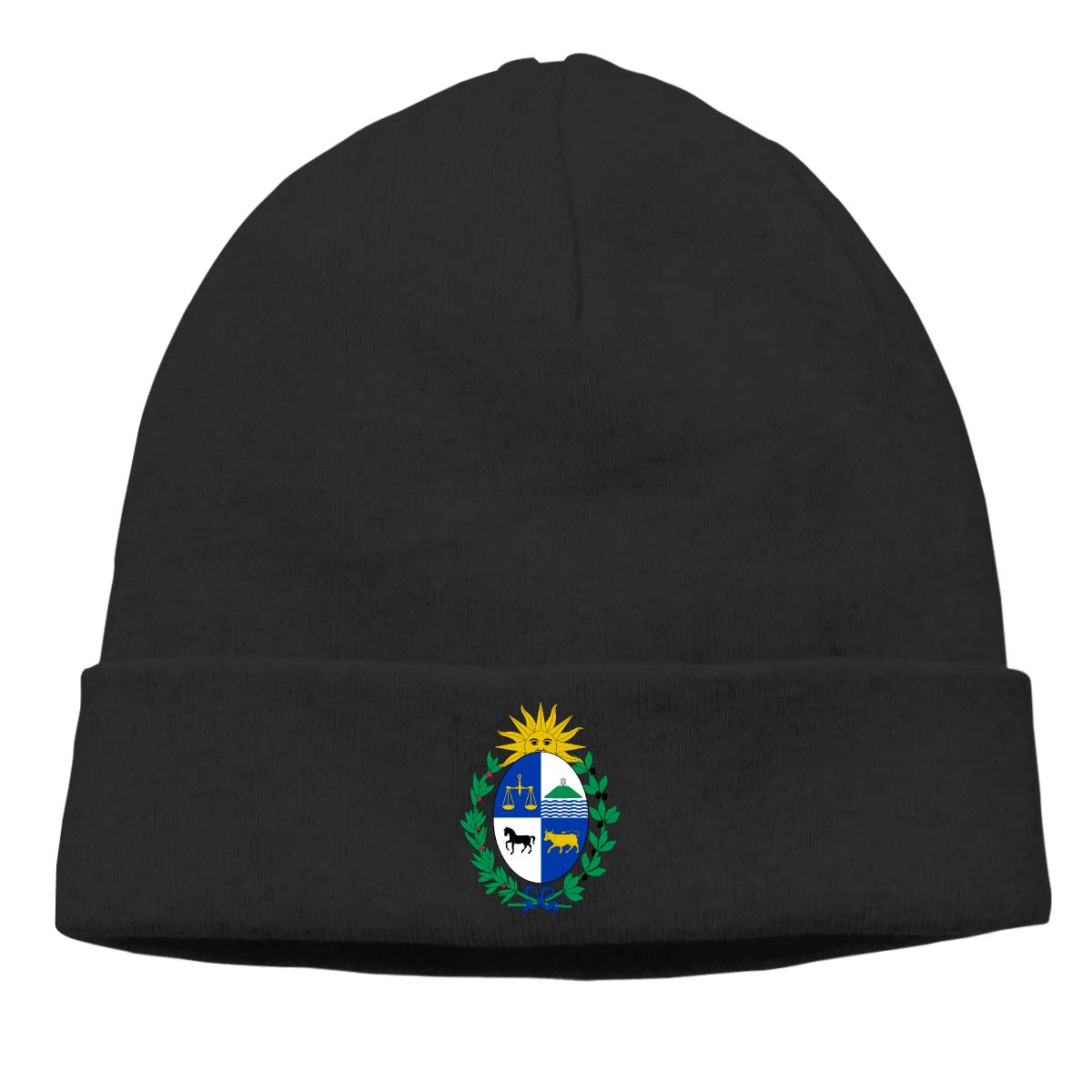 Nskngr Coat of Arms of Uruguay Cap Men /& Women Warm Slouch Beanie Hats Beanie Skull Cap