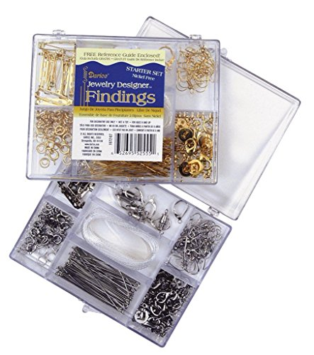 DARICE 1972-07 Finding Starter Kit Craft Accessory Box, Nickle Free Gold -
