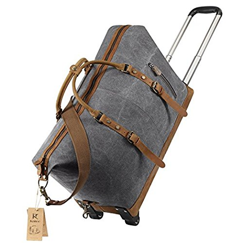 Kattee Luggage Rolling Leather Wheeled product image