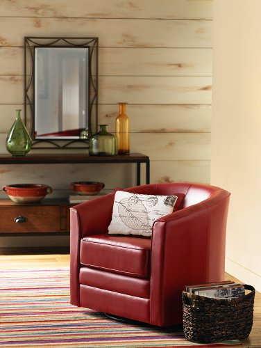 Charmant Amazon.com: Keller Scarlet Red Bonded Leather Swivel Club Chair: Kitchen U0026  Dining